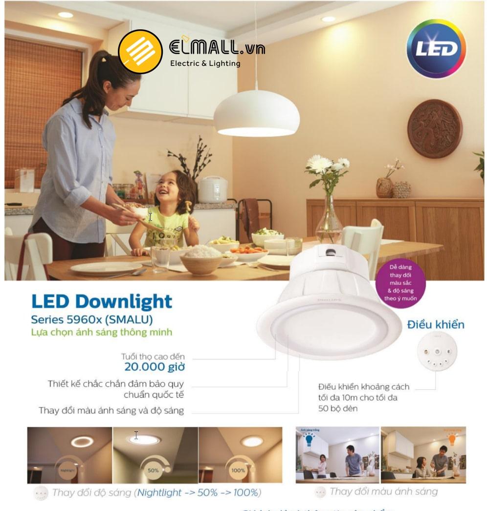 Ưu điểm của đèn led âm trần Philips 59061, 59062