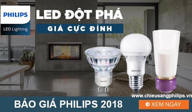 Bảng báo giá bóng đèn led Philips 2018 - Catalogue Philips 2018