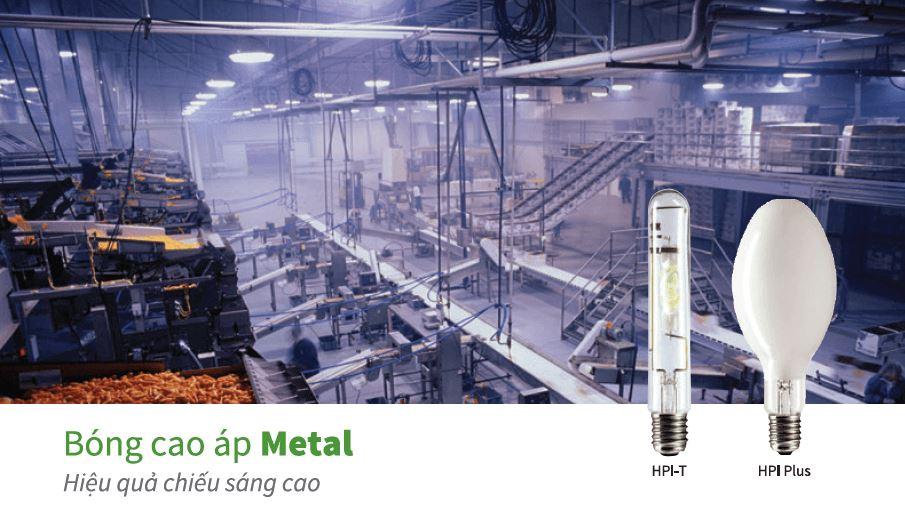 hiệu quả bóng cao áp metal philips