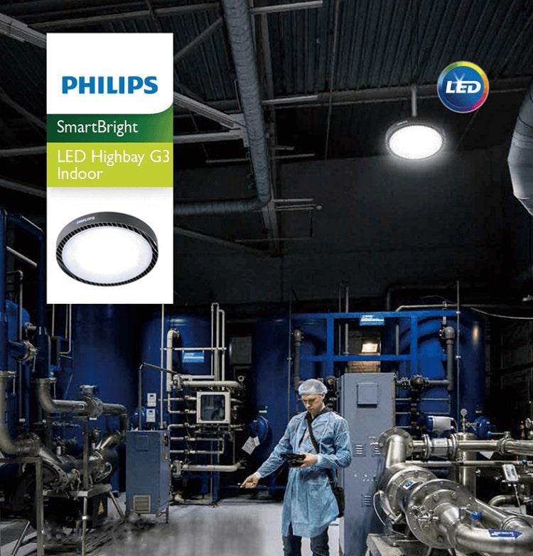Đèn led nhà xưởng BY239 Philips PSU