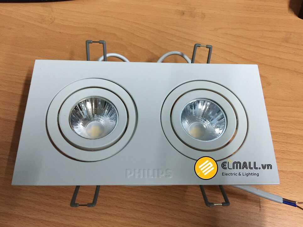 đèn led âm trần GD022B 2x6W/10W Philips