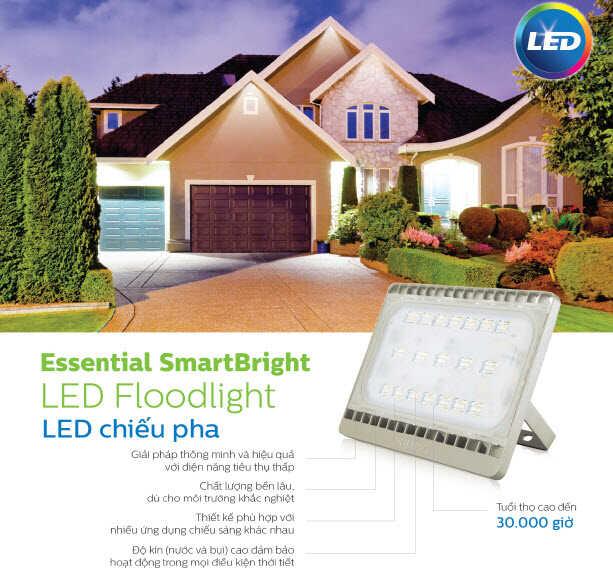 essentia smartbright led floodlight philips bvp161