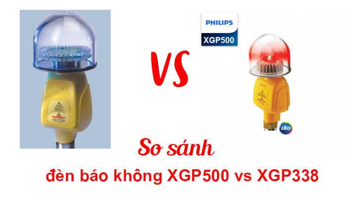 so sánh đèn báo không xgp500 và xgp338