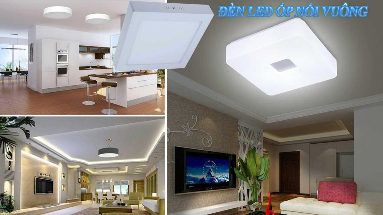 Ứng dụng của đèn led ốp trần vuông trong chiếu sáng