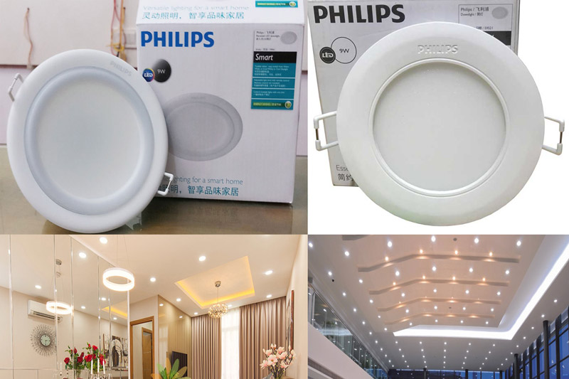 Ứng dụng của đèn led âm trần siêu mỏng Philips