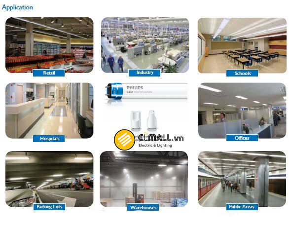 Đèn led philips được ứng dụng trong công nghiệp
