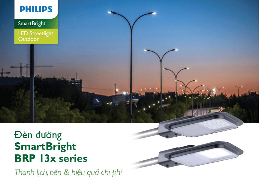 đèn đường led philips street lighting smartbright brp 13x series
