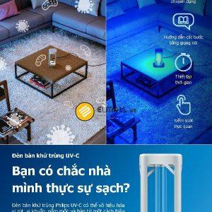 Đèn bàn UV-C Philips có khả năng diệt khuẩn đển 99%