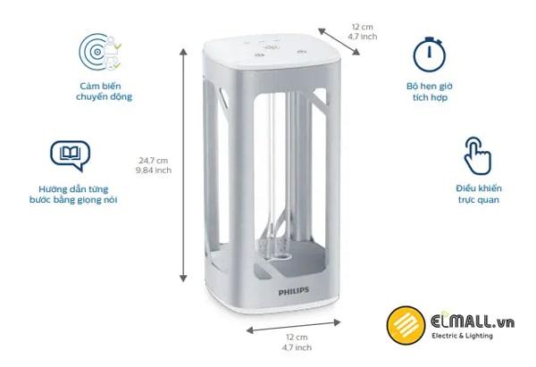 Bộ đèn bàn UV-C Philips khử trùng