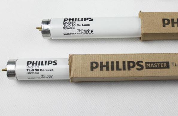 đèn tủ soi màu master philips d65 tl-d90 deluxe 36w/965