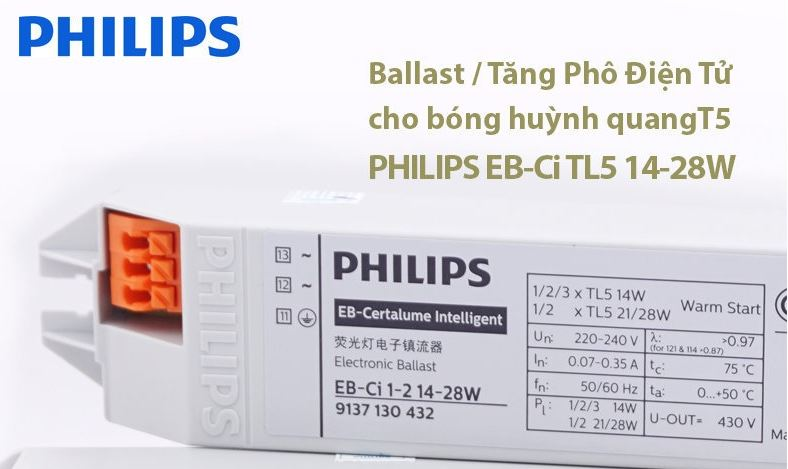 ballast philips eb ci 1 2 14 28w